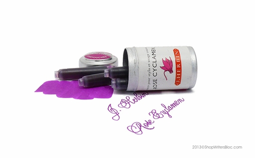 J. Herbin Universal Fountain Pen Ink Cartridges - Rose Cyclamen