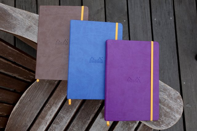 Rhodiarama Webnotebooks A5 Size - Chocolate, Sapphire, Purple Covers