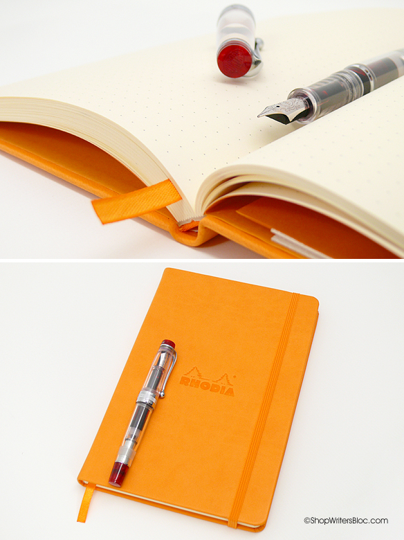 Rhodia Webnotebook - Medium, Orange, Dot Grid