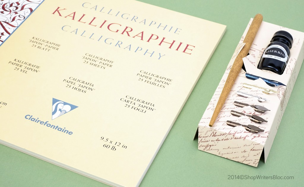 Clairefontaine Calligraphy Pad, Brause Calligraphy Gift Set