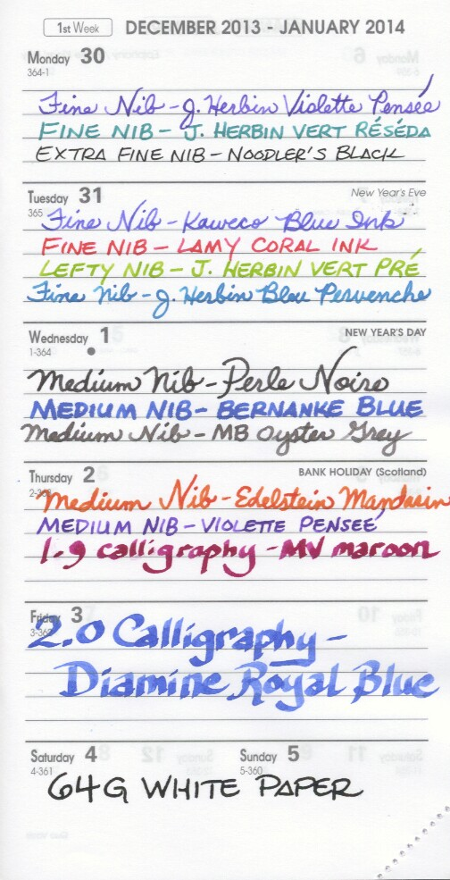 64g White Clairefontaine Paper Writing Test (Biweek) - Front
