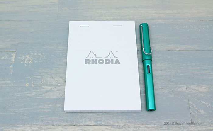Rhodia Ice Bloc 13 with a LAMY Al-Star Fountain Pen