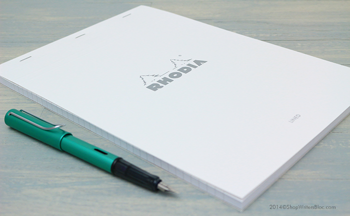 Rhodia Ice Bloc 18 with a LAMY Al-Star Fountain Pen