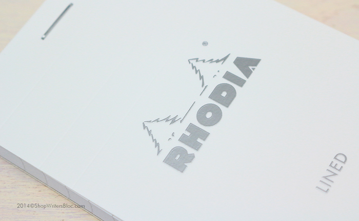 Rhodia Ice Notepad - White Cover with Silver Logo