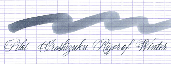 Pilot Iroshizuku Rigor of Winter Ink