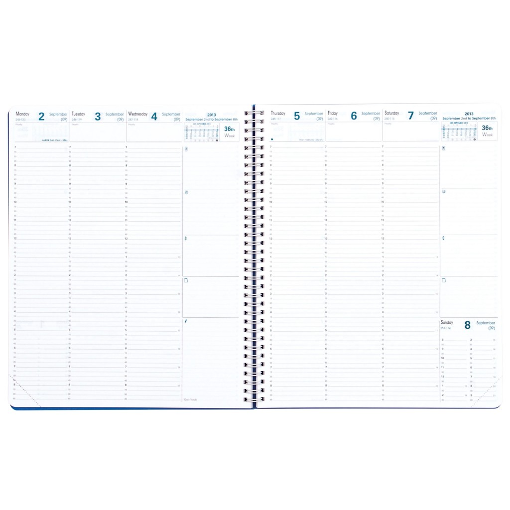 Quo Vadis Quarter Weekly Appointment Book