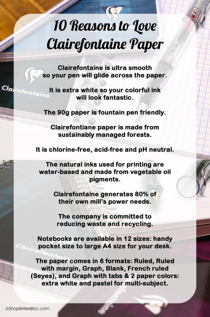 10 Reasons to Love Clairefontaine Paper