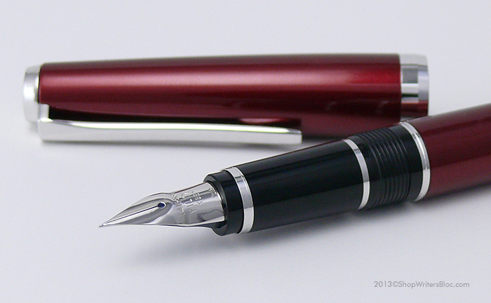 Pilot Metal Falcon Semiflex Nib Fountain Pen - Burgundy