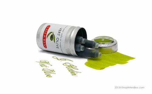 J. Herbin Universal Fountain Pen Ink Cartridges - Vert Olive