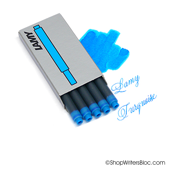 LAMY T10 Fountain Pen Refills 5 Pack - Turquoise