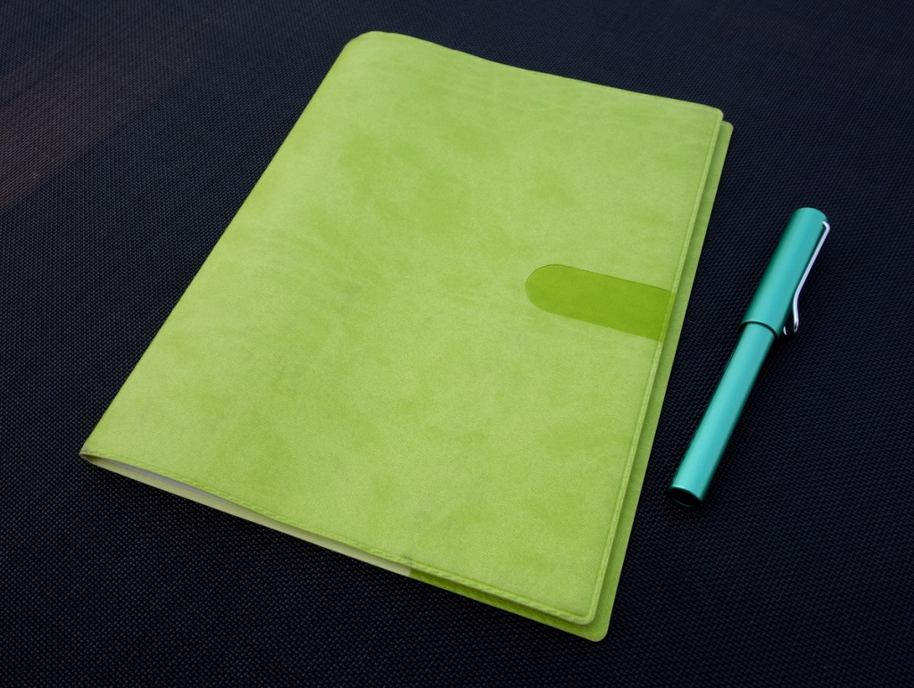 Quo Vadis Monthly 4 Planner with a Bamboo Green Texas Cover