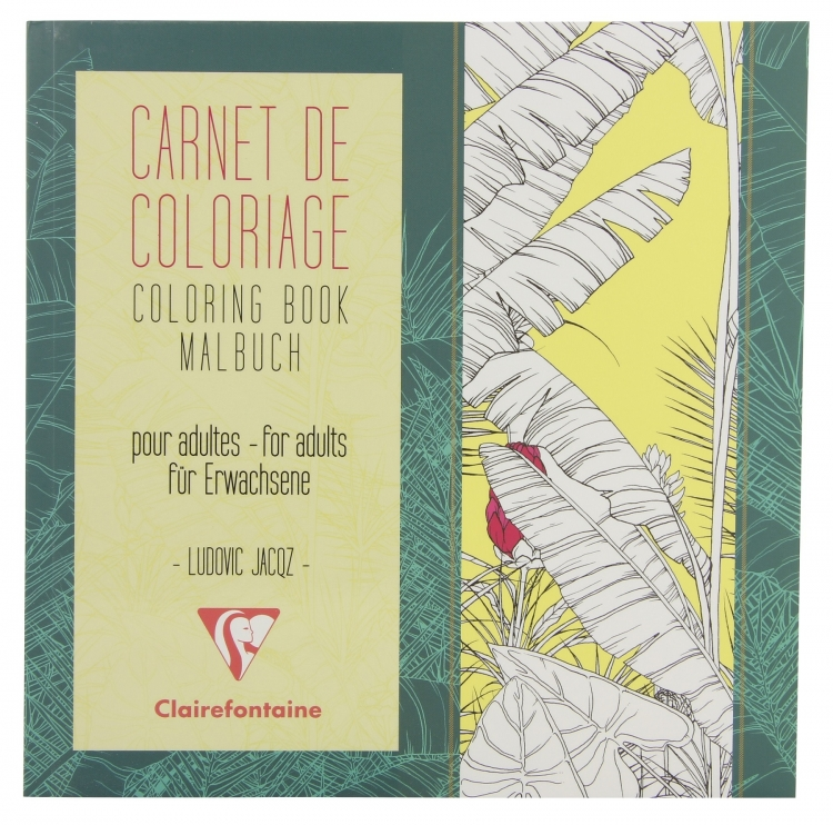 Clairefontaine Coloring Book - Flowers