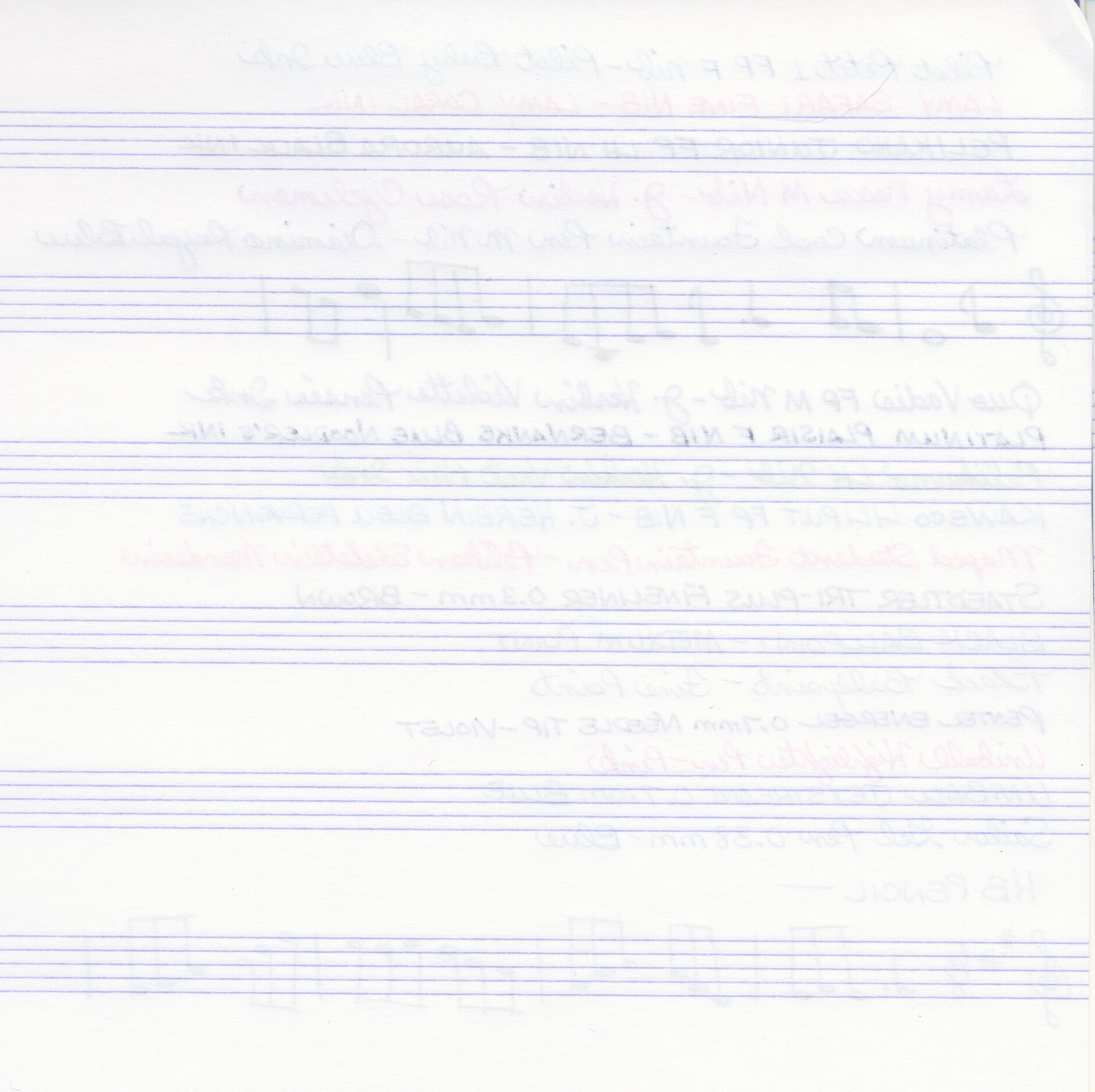 Clairefontaine Music Notebook - Writing Test (Back)