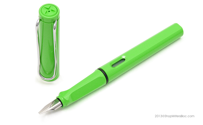 Green LAMY Safari with a Calligraphy Nib
