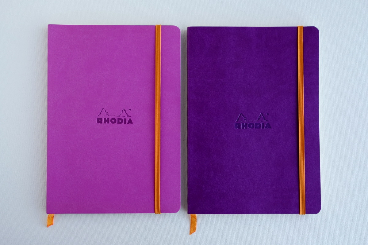 Rhodiarama Soft Cover Notebooks - Lilac & Purple