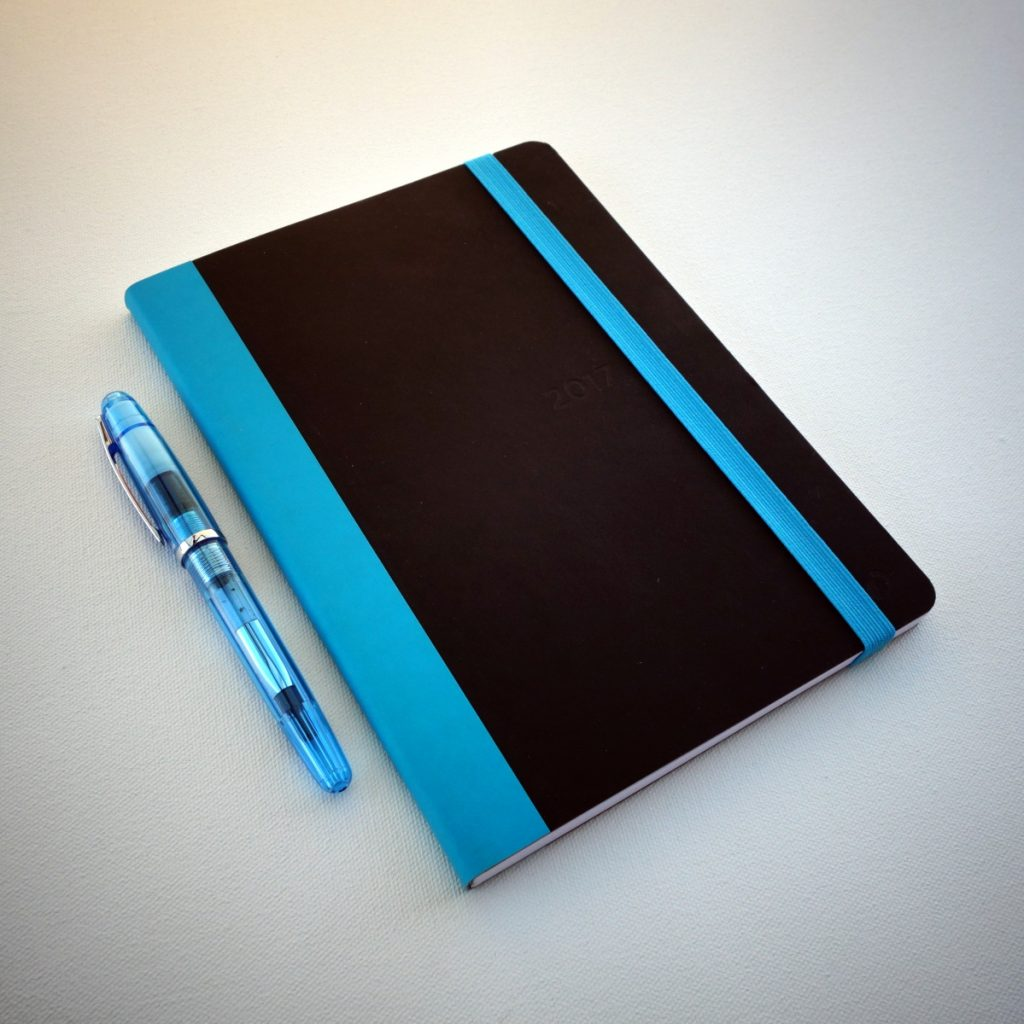 Quo Vadis Plan & Note Planner and Platinum Cool Fountain Pen