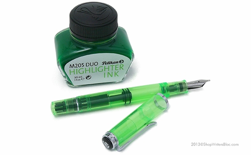 Pelikan M205 Duo Highlighter Fountain Pen - Shiny Green